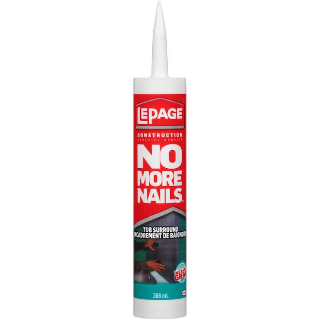 LePage No More Nails Tub Surround Adhesive - Latex - 266 ml - White