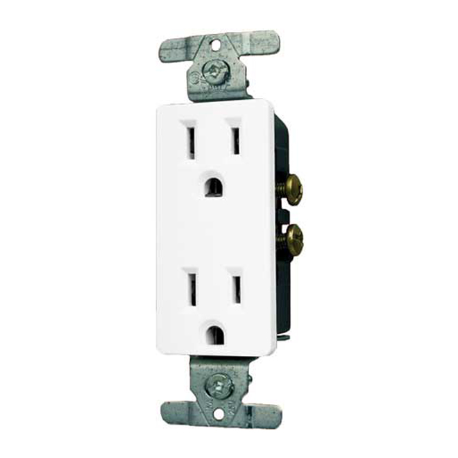 on duplex outlet wiring