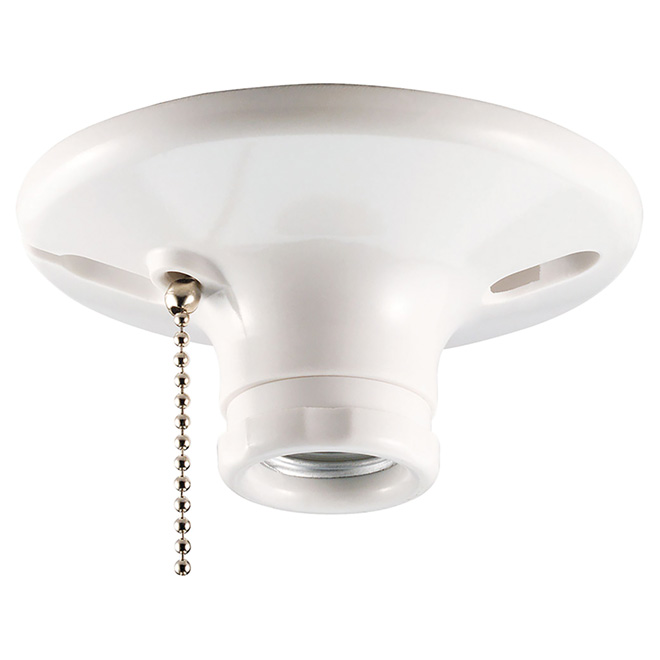 lampholder pull chain ceiling lampholder rona rh rona ca how to install a porcelain ceiling lampholder Wiring a Ceiling Light with Switch