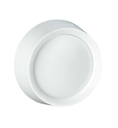 Bouton de remplacement pour gradateur, rotatif, blanc