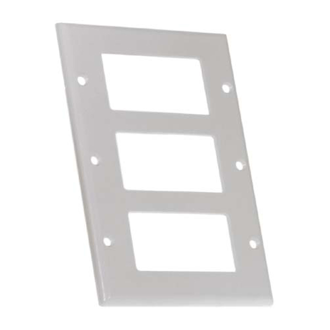 Eaton Standard 3-Gang Wall Plate - Thermoset - White Plastic - 2 3/4-in W x 4 1/2-in H