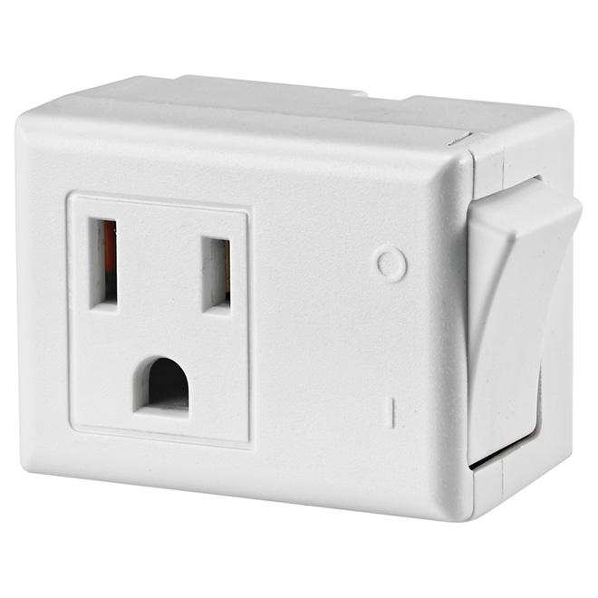 Plug-in Switch - 125 V - White