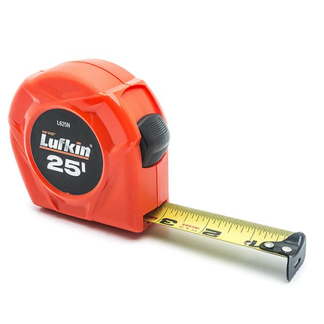 Lufkin Steel Measuring Tape SAE - 1'' x 25' - Orange