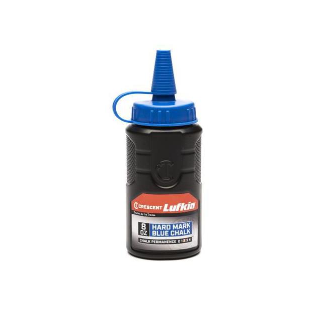Lufkin Chalk Reel with Advanced Blend Blue Chalk - 100-ft