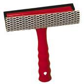 Racloir éponge pour fenêtre et pare-brise, 6'' x 9'', rouge