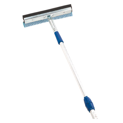 Telescopic Pole with Window Squeegee - 4' to 7'