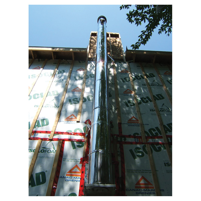 """Insulated chimney length 36"""" x 6"""""""