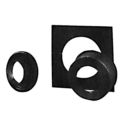 Ceiling Support Package with Adaptator - 6'' - Black