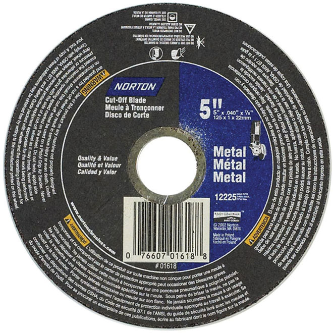 Norton RightCut Right-Angle Abrasive Cut-Off Wheel - 5-in Dia x 1/8-in T - 7/8-in Arbor - Type 1-41 - Aluminum Oxide