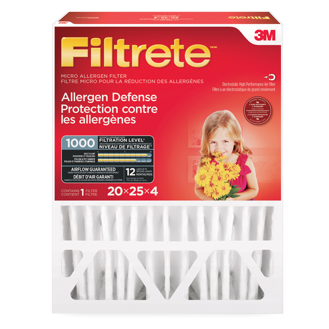 Filtrete 20-in x 25-in x 4-in 1800 MPR Allergen Reduction Electrostatic Pleated Air Filter