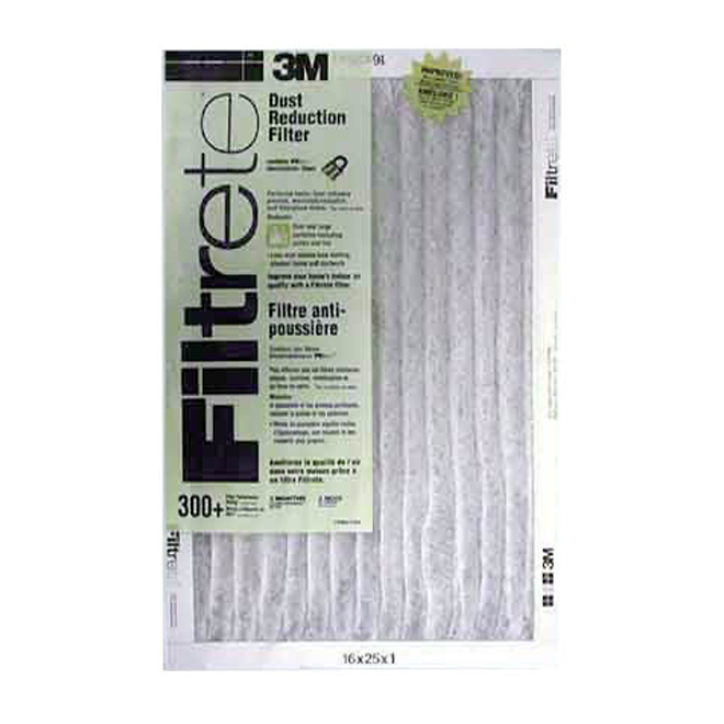 3M 16-in x 25-in x 1-in 300 MPR Dust Reduction Electrostatic Pleated Air Filter