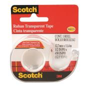 Scotch Transparent Tape with Dispenser - 12.7 mm x 11.4 m