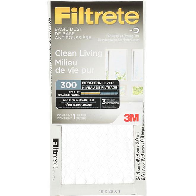 Filtrete Electrostatic Dust Fiberglass Furnace Filter - 10-in x 20-in