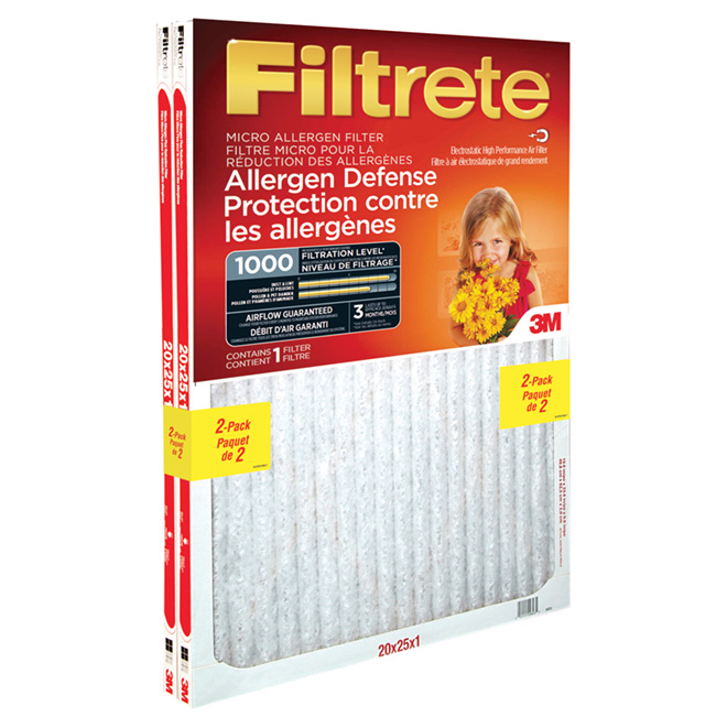 "Pack of 2 ""Filtrete"" Air Filters - 20"" x 25"""