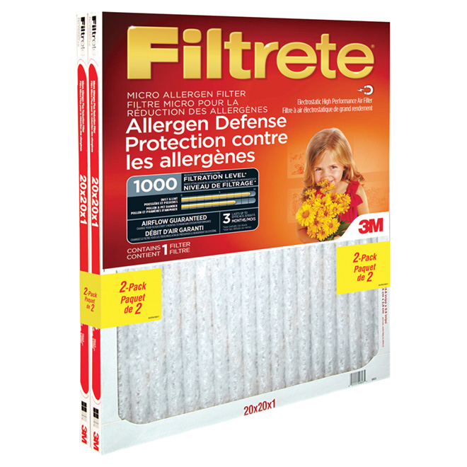 "Pack of 2 ""Filtrete"" Air Filters - 20"" x 20"""