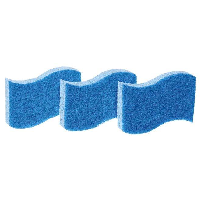 Paquet de 3 éponges à récurer tout usage anti égratignures