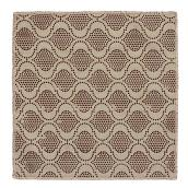 "Scrubbing Dishcloth - 11"" x 11"" - Fabric - Beige and Brown"