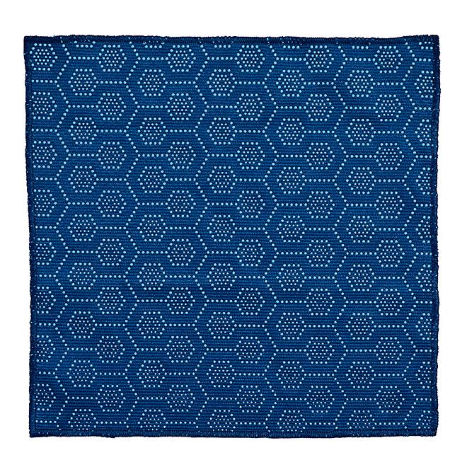 "Lavette à récurage, 11"" x 11"", tissu, bleu"