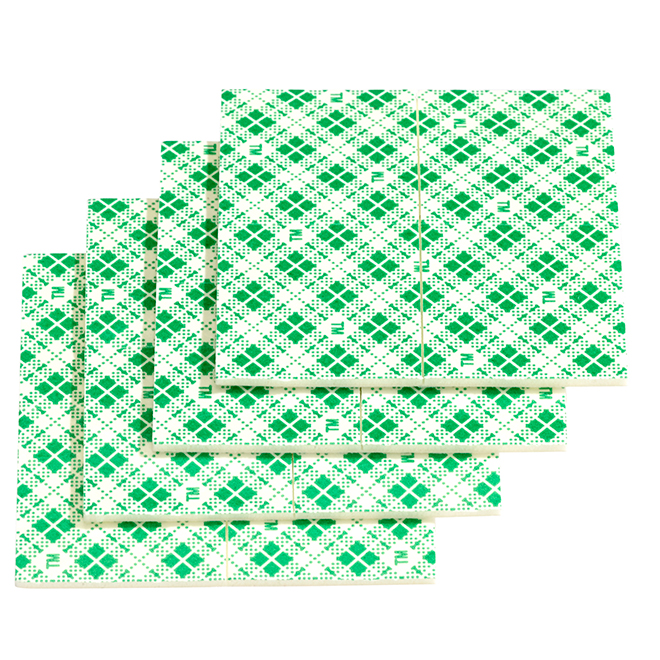 3M - Double-Coated Mounting Squares - 16/Pck - Green