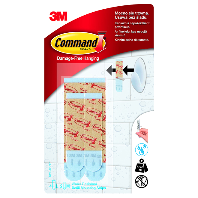 Water-Resistant Hanging Refill Strips