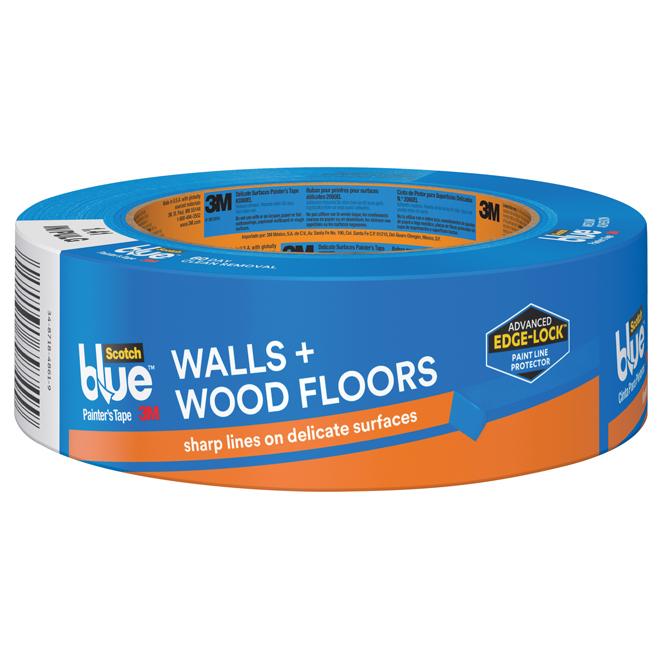 Ruban pour peintres, murs et planchers de bois, 36mm, bleu