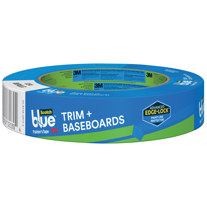 Painter's Tape - Trim and Baseboards - 24mm - Blue