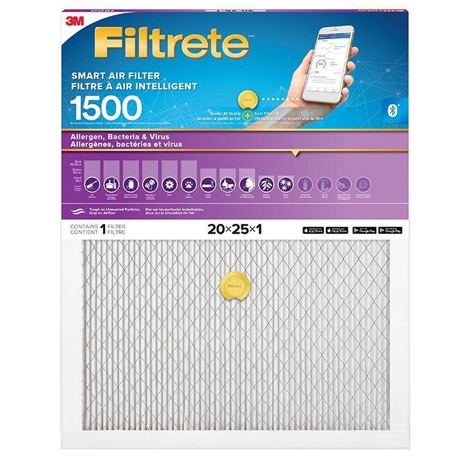 """Filtre à air intelligent, 20"""" X 25"""" X 1"""", 1500 MPR"""