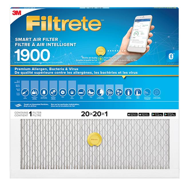 """Smart Air Filter - 20"""" X 20"""" X 1"""" - 1900 MPR"""