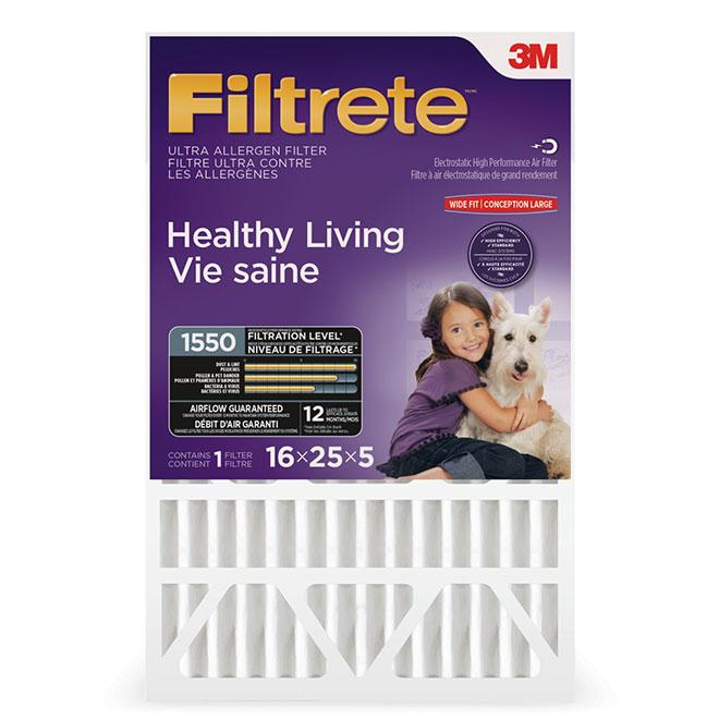 Filtre pour fournaise, Ultra, 16'' x 25'' x 5''