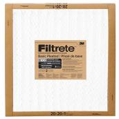 Filtrete Basic Pleated Air Filter - 20-in X 20-in - 2/Pack
