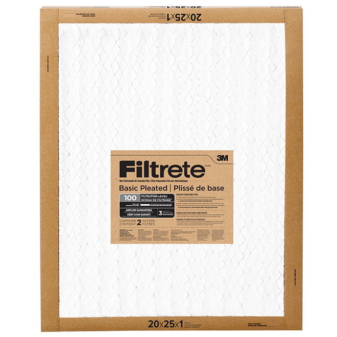 """Basic Pleated Air Filter - 20"""" X 25"""" - 2/Pack"""