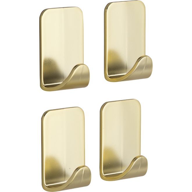 Brass Metal Hooks - Small - 4/Pack
