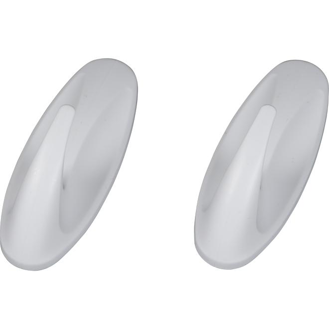 Hooks - Medium - White - 2 Hooks
