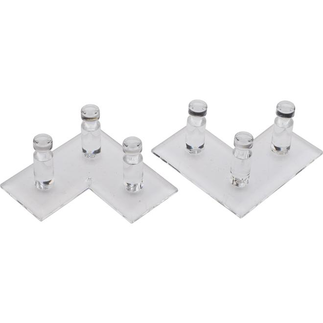 Plastic Jewelry Racks - Clear - 2/Pack