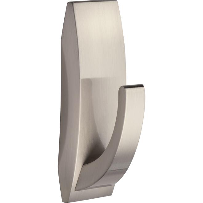 Large Bathroom Hook - Satin Nickel - 1/Pack