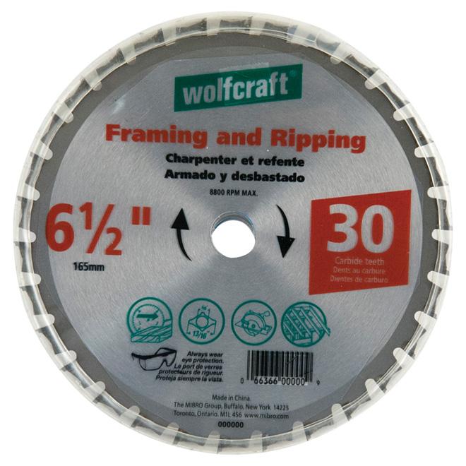 Wolfcraft Framing Circular Saw Blade - Carbide - 8800-RPM - 6 1/2-in dia