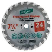 "Framing Circular Saw Carbide Blade - 7 1/4"" - 24TH"