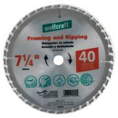 "Framing Circular Saw Carbide Blade - 7 1/4"" - 40TH"