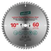 "Laminate/Non-Ferrous Carbide Blade - 10"" - 60TH"
