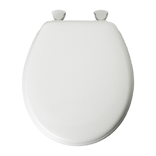 Molded Wood Toilet Seat - Regular - White