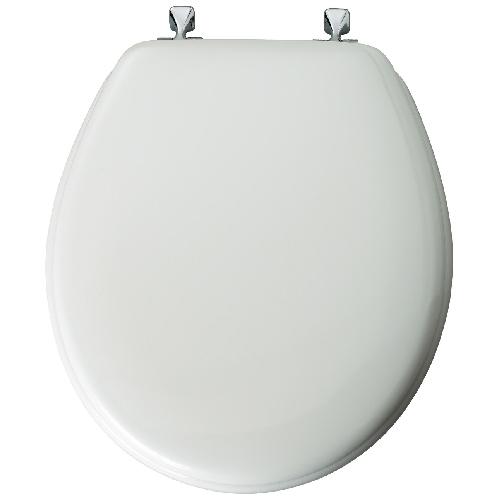 Molded Wood Toilet Seat - Soft White