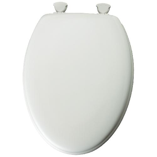 Siège de toilette en bois moulé Mayfair, écologique, forme allongée, 2,06 po H. x 18,81 po L. x 14,19 po l.