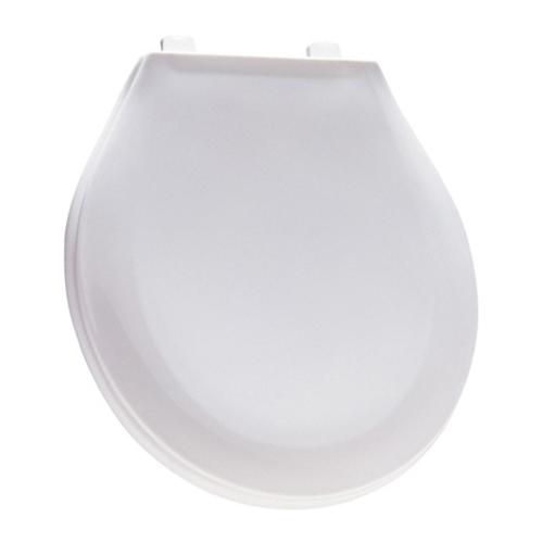 Siège de toilette en plastique de Mayfair, rond, blanc grue, de luxe, facile à nettoyer