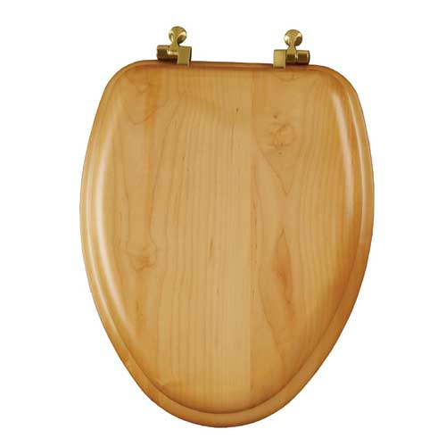 Molded Wood Toilet Seat - Elongated - Natural Oak