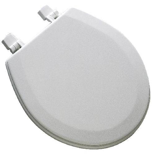 Molded Wood Toilet Seat - White