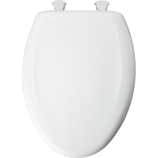Plastic Toilet Seat - Elongated - White