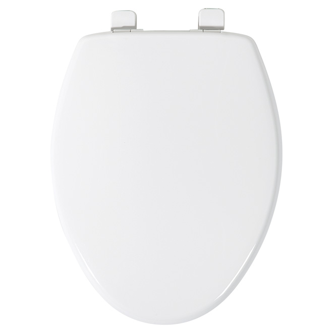 Plastic Toilet Seat - Elongated - White Crane