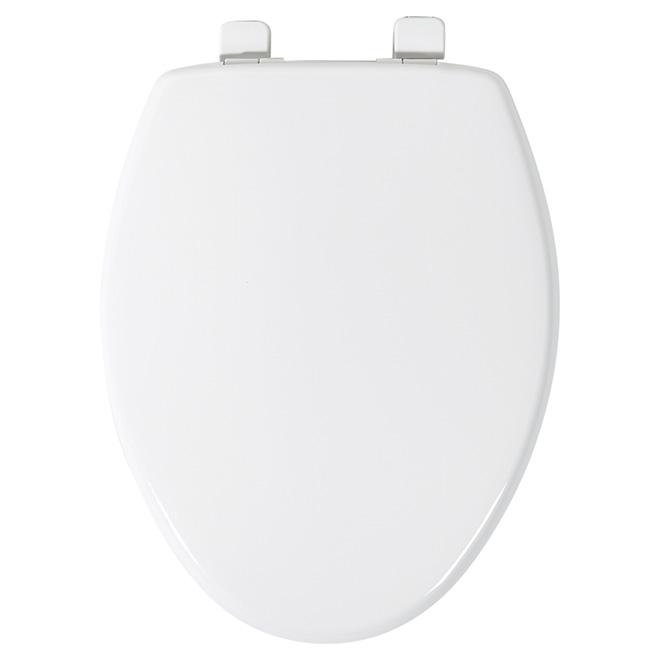 Peachy Mayfair Plastic Toilet Seat Elongated White Crane Rona Short Links Chair Design For Home Short Linksinfo