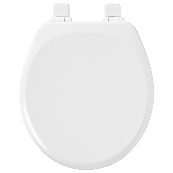Moulded Wood Toilet Seat - Round - White