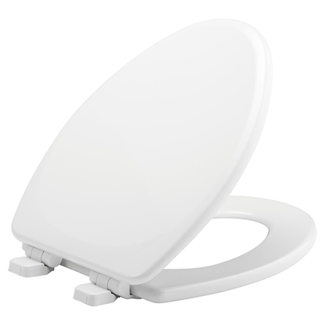 Moulded Wood Toilet Seat - Elongated - White
